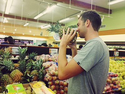 So sexy when he picks out fruit.
